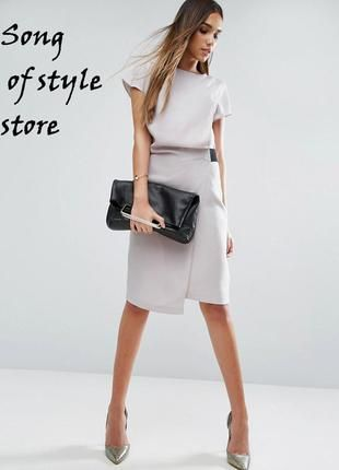 Asos платье-карандаш с драпировкой и эластичной деталью