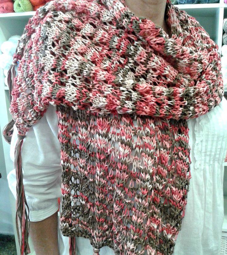 Mejores 76 imágenes de Shawl pattern en Pinterest   Bufandas ...