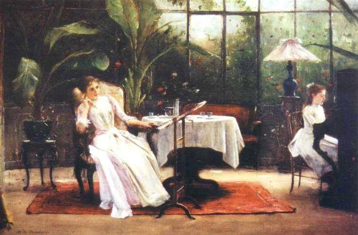 Munkácsy Mihály (1844-1900) - Zongoralecke