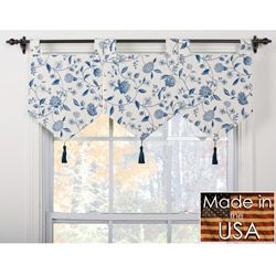 These Charming Blue Window Valances Would Beautifully Complement Both  Modern And Traditional Decor. Featuring A Fully Lined Construction And A  Sweet Blue ...