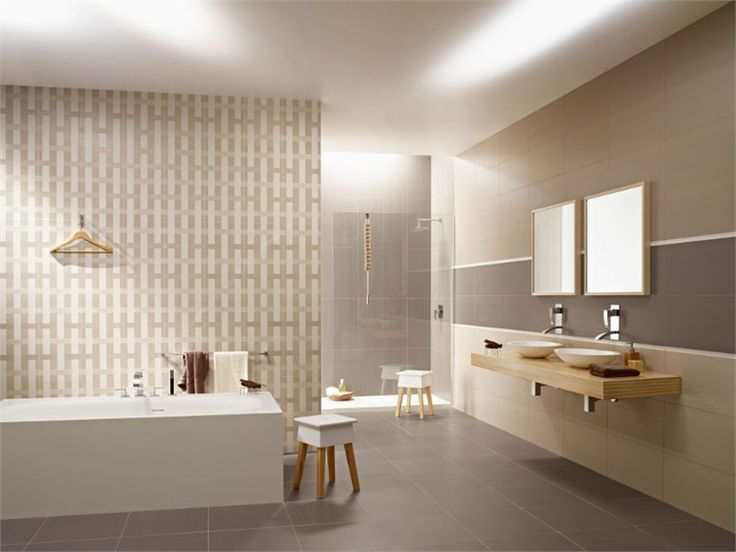 different tiles/ beige, brown and white tones