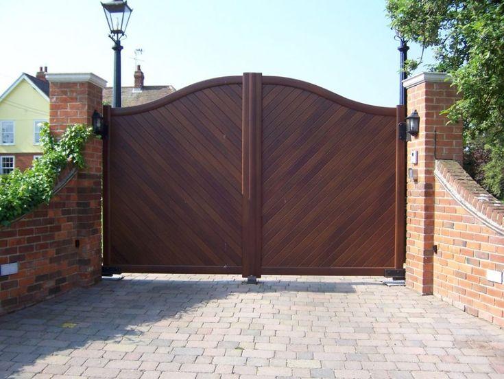 Gate and Fence:Automatic Gate Motors Driveway Entrance Gates Steel Gate Frontgate Wrought Iron Gates  estate driveway gates