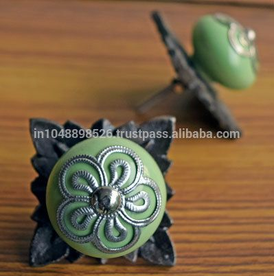 Shabby Chic Green Ceramic Knobs For Cabinets With Hand Crafted Antique Metal Backplate , Find Complete Details about Shabby Chic Green Ceramic Knobs For Cabinets With Hand Crafted Antique Metal Backplate,Hand Painted Ceramic Handles And Knobs,Ceramic Flower Knobs,Ceramic Kitchen Cabinet Knob from Furniture Handles & Knobs Supplier or Manufacturer-MOSAIC ART HOUSE
