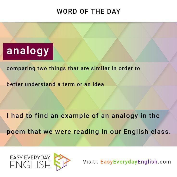 Hey Wordoftheday Is Analogy Via Eeewordlists Meaning