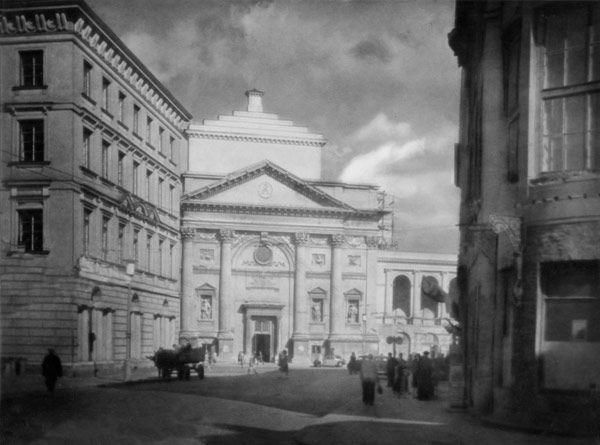 Tadeusz Wański, Warszawa, Kościół Św. Anny przy Krakowskim Przedmieściu, widok od ul.Miodowej, lata 30-te XX w.