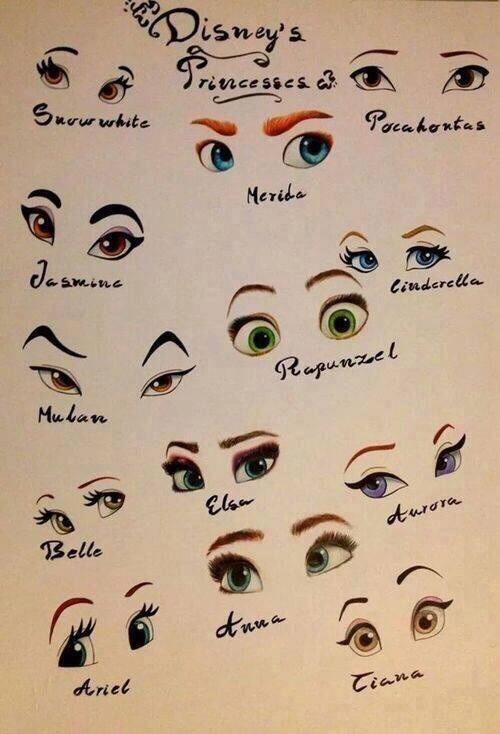 Disney princesses' eyes