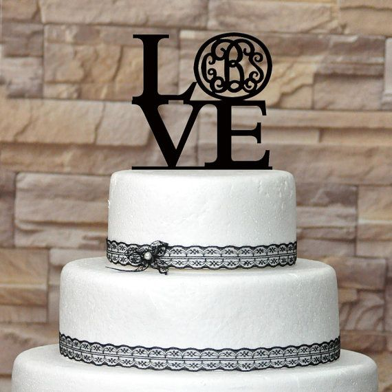 wholesale custom wedding cake topper acrylic cake topper love monogram for wedding or birthday. Black Bedroom Furniture Sets. Home Design Ideas