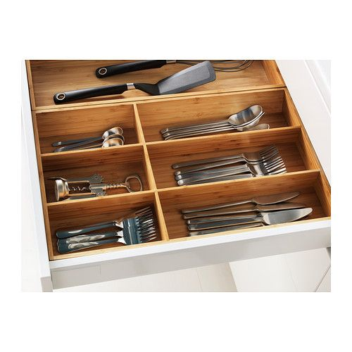 Ikea Variera flatware tray, bamboo, for utensils and measuring spoons, etc.  $16.99