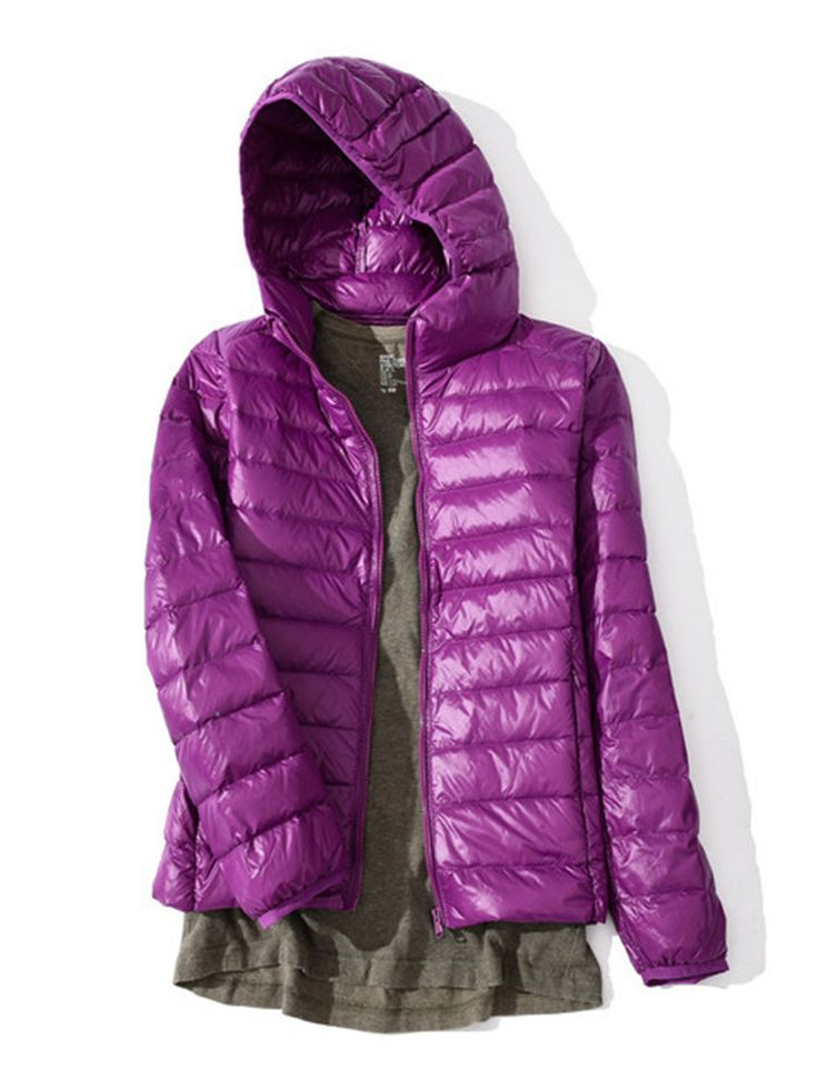 Casual Portable Women Hooded Down Jackets