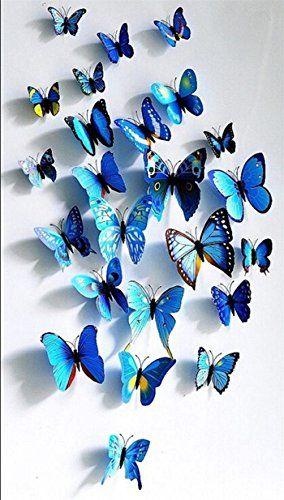 Adhesivos 3D decorativos para pared, diseño de mariposas…