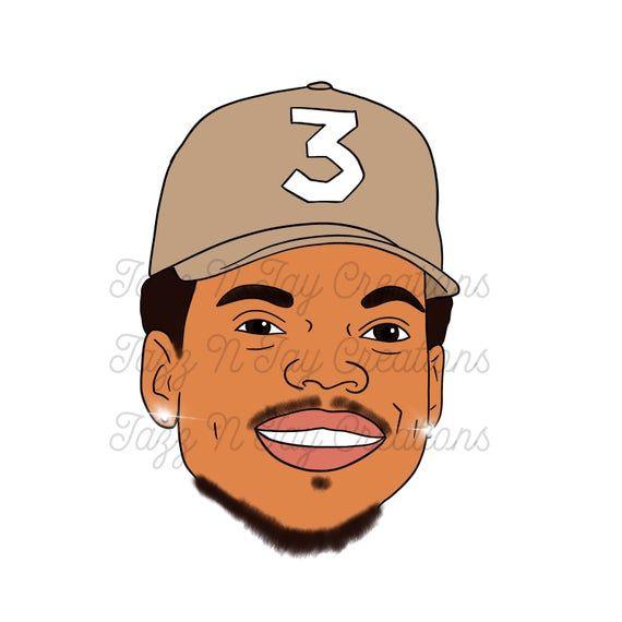 Chance The Rapper Inspired Digital Download Png Jpeg Full Color Chance The Rapper Trill Art Digital Art Illustration