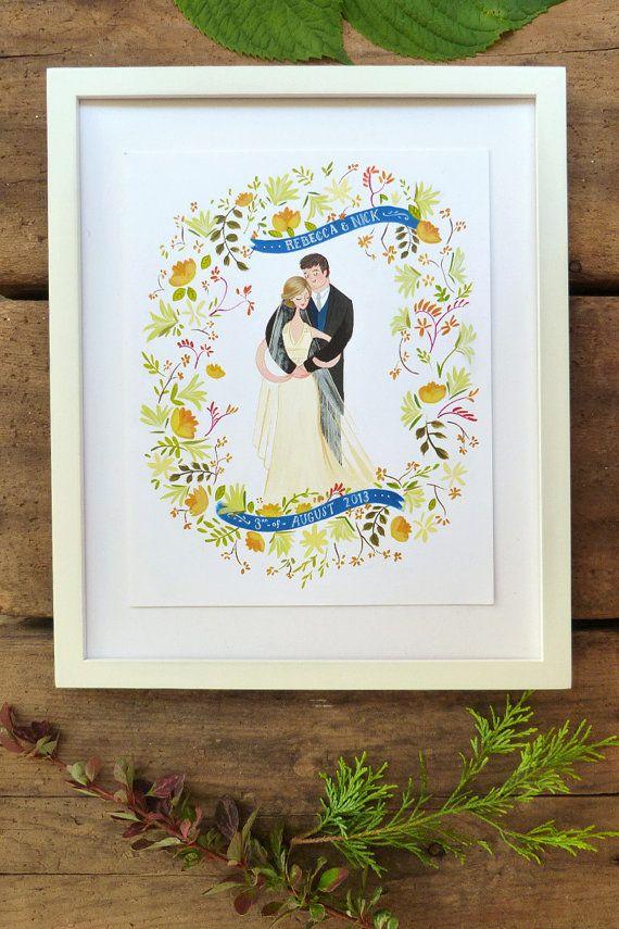 Summer Lovin' custom wedding portrait illustration by JollyEdition
