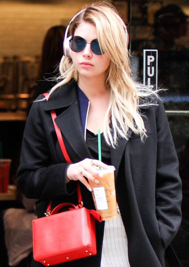 Ashley out and about after leaving Starbucks in Manhattan, New York on April 19th, 2017.