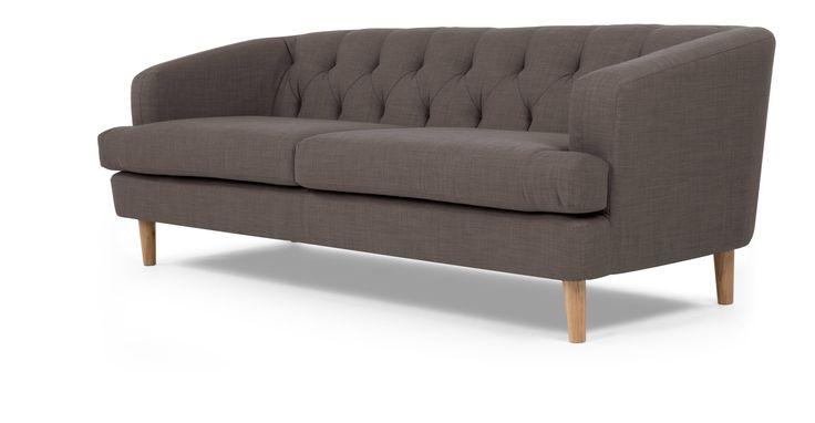 Dawson 3-Sitzer-Sofa, urbanes Grau