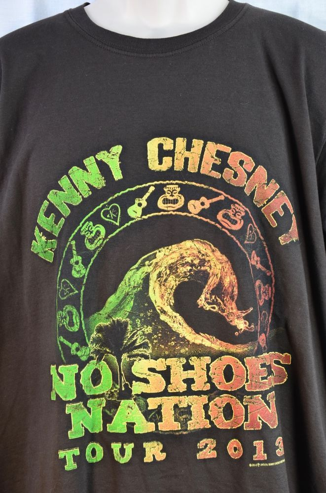 KENNY CHESNEY 2013 No Shoes Nation Tour T-Shirt Size X-Large