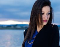 Blue dress in the middle of the clouds.. by Giulia Diandra Scirica, via Behance