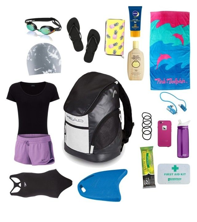 What's in my swim bag by yasmeenf on Polyvore featuring polyvore, fashion, style, Joseph, Speedo, Havaianas, Head, NIKE, LifeProof, Wet Seal, Sun Bum, Nivea, Zoggs and Pyle