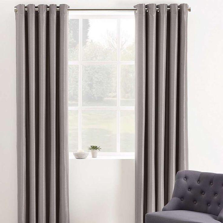 Phoenix Mink Blackout Eyelet Curtains | Dunelm