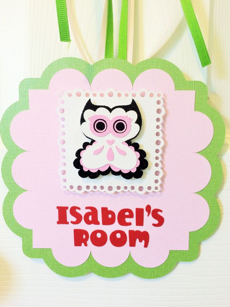 Girl's Owl Bedroom Name Sign Door Hanger by ThePaperedParlor on Etsy https://www.etsy.com/listing/236511680/girls-owl-bedroom-name-sign-door-hanger