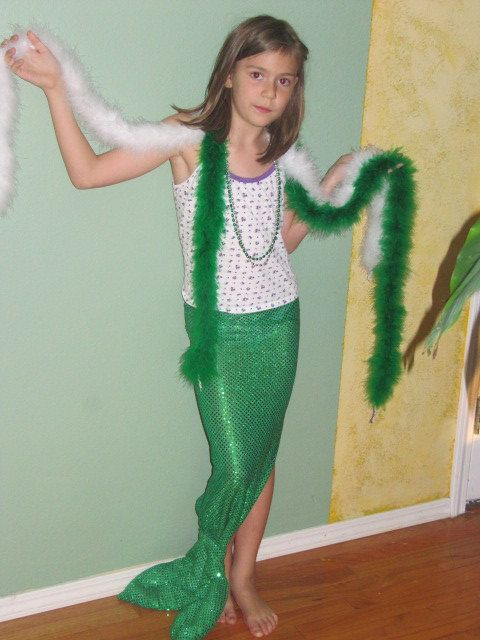 Mermaid Costume with sea shell top by seagypsygifts on Etsy, $50.00