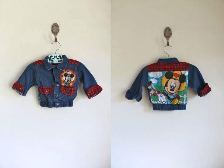 vintage baby denim jacket - COWBOY MICKEY jean jacket / 3-6M by MsTips on Etsy https://www.etsy.com/listing/481750627/vintage-baby-denim-jacket-cowboy-mickey