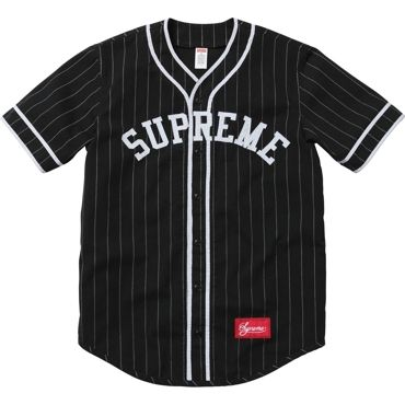 Supreme: Baseball Jersey - Black ($100-200) - Svpply