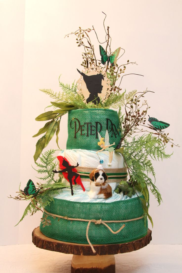 Peter Pan diaper cake I made