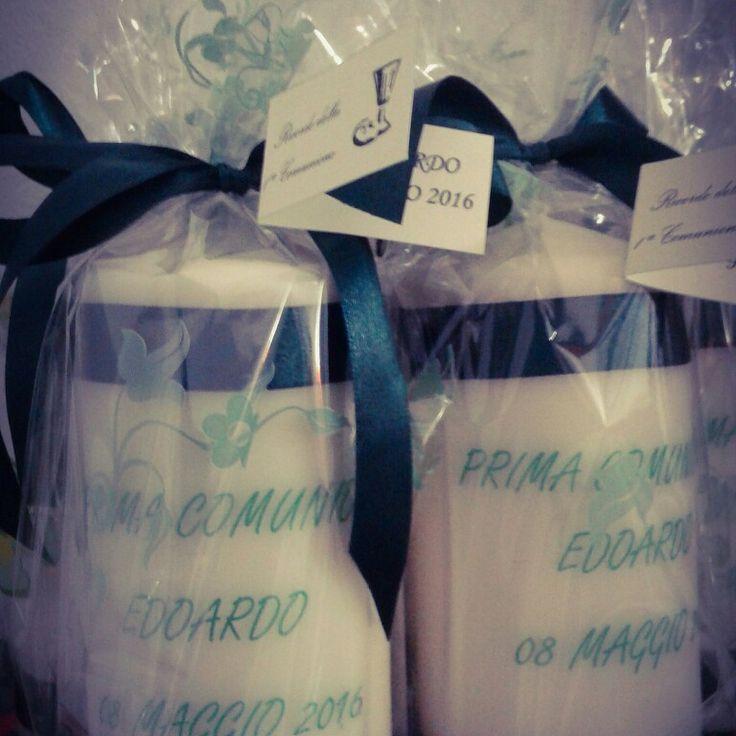 Candele decorate #bomboniere #prima comunione #creazionihamalo