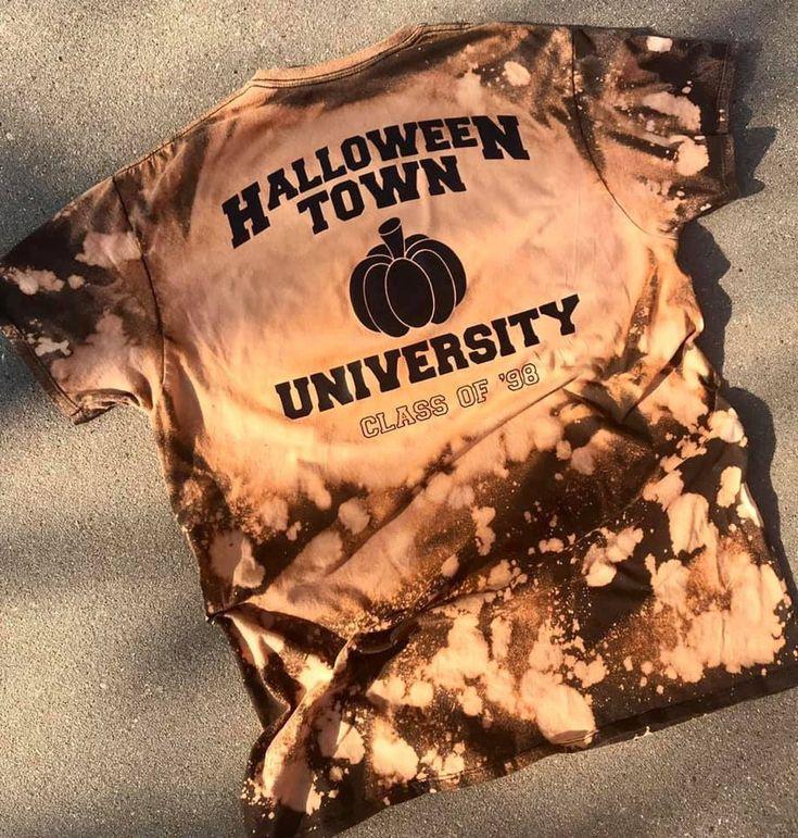 halloweentown custom bleached tshirt on Mercari in 2020