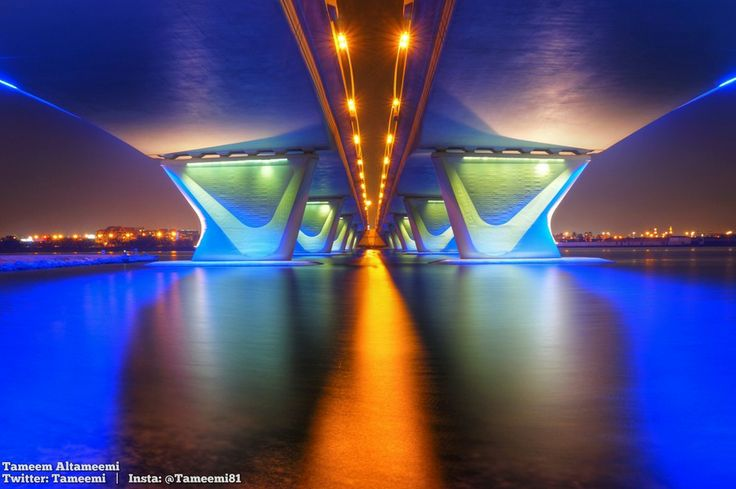 Al Garhoud Bridge by Tameem  Altameemi