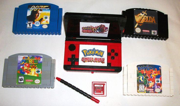 > > > $49.50 < <  < LEGO Pokemon 3 DS Omega Ruby Red N64 Mario Kids Boys Nursery Room Decor Zelda  #LEGO