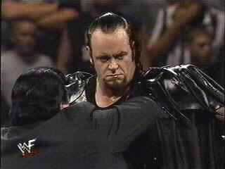 Undertaker & Paul Bearer at Over The Edge (1999)