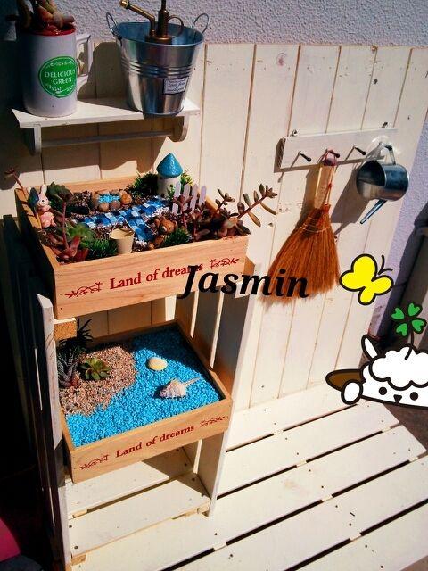 DIY*板壁ベランダガーデニング|木工BJキャラ弁ハンドメイドDIY*多趣味姉妹ママJasmin