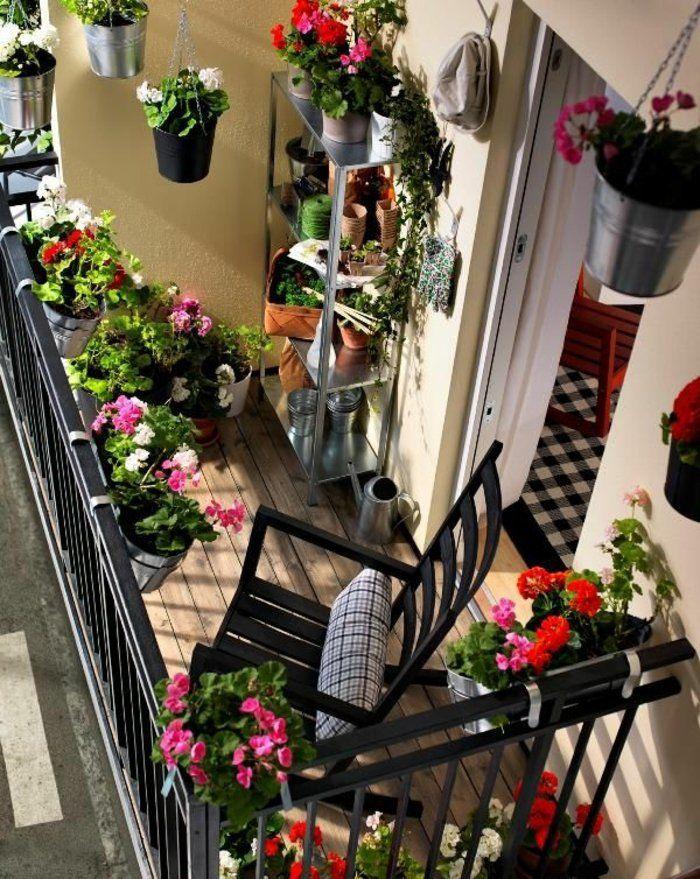 comment avoir un balcon fleuri, idee pour fleurir son balcon
