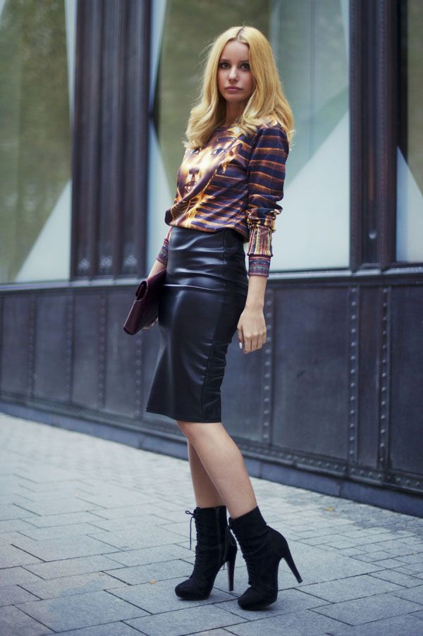Be inspired by the people in the street! www.streetstylecity.blogspot.com Leather Street Style