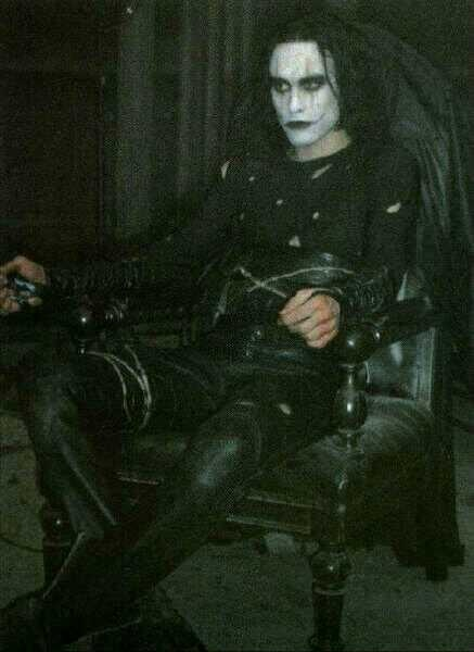 on the set of The Crow