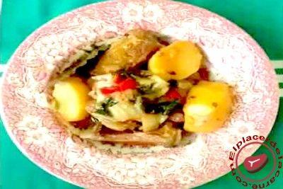 Costillas de cerdo con acelgas y patatas - Elplacerdelacarne.com