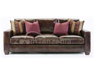 Lesharo Walnut Leather Sofa Set
