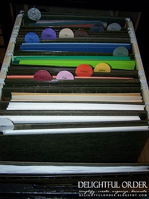 This is 8x11 paper but I use a similar method with a milk crate and 12x12 paper.  Also, a small file box and hanging folders is good to store odd shaped scrap paper by color