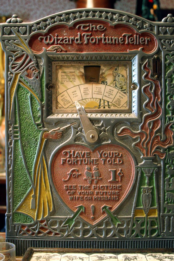 Fortune Teller Booth Halloween Craft: 75 Best Images About Old Fortunes Teller Machines~ On
