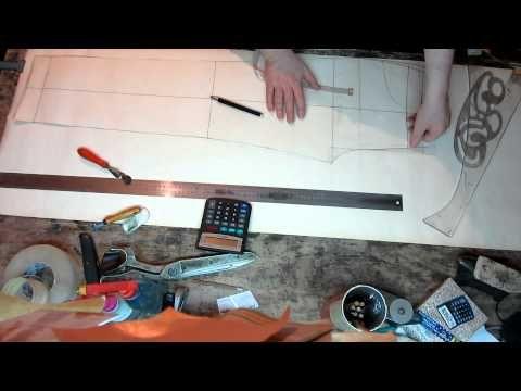 Пошив не сложных, женских брюк. (Раскрой брюк) Часть 1 - YouTube