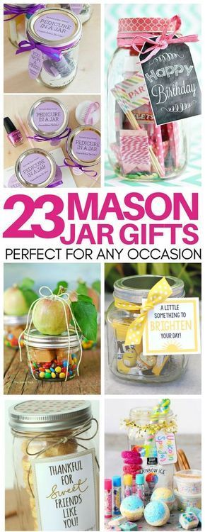 Need a thoughtful but cheap gift idea last minute? These mason jar gift ideas are perfect!! Gifts for teacher appreciation, birthdays, hostess gifts, and more! #giftideas #masonjar #teacherappreciationgifts