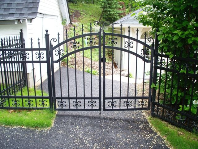 Decorative wrought iron fencing fence