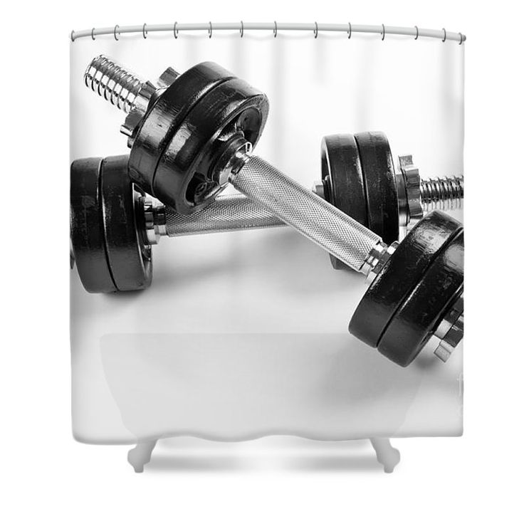 Chrome screwed hand barbells weights black color on white background. #barbell #barbells #bolt #dumbbell #dumbbells #equipment #exercise #fitness #gym #heavy #sport #weigh #weight #weights #homedecor #decor #bathroom #shower #curtain