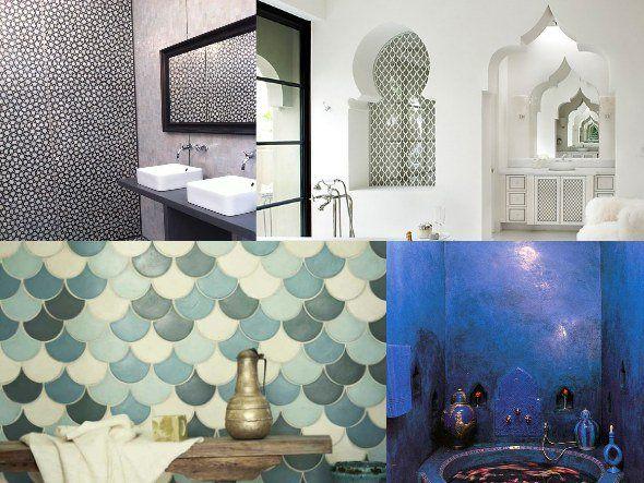 Piastrelle marocchine bagno idee di design per la casa