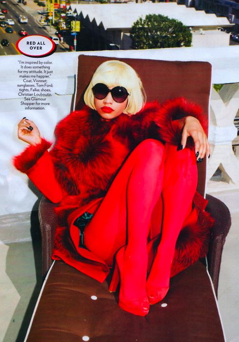 red fur coat - Google Search: Fashion, Nicki Minaj, Red, Inspiration, Style, Nickiminaj, Glamour Magazine, People, Photography
