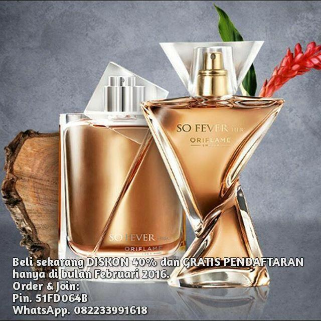 """Parfum Couple """"So Fever Him & So Fever Her"""".   Produk Baru! Diskon 40% hanya di bulan Februari.  Grab it Fast!  Order & Join:  Pin. 51FD064B WhatsApp. 082233991618"""