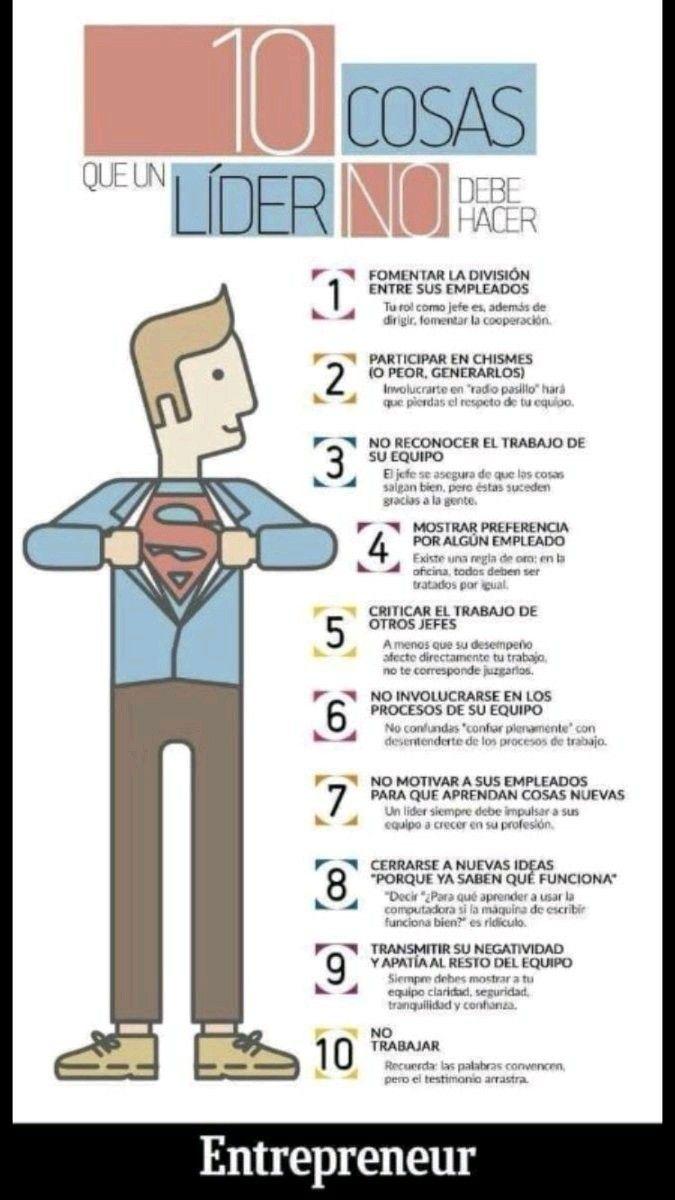 10 cosas que un líder debe evitar.