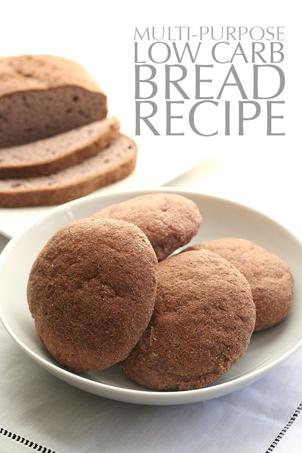 The best low carb bread recipe, it can be used for rolls, loaf bread, buns, pizza and more! Less than 3 g of net carbs per serving.