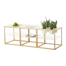 "Perfect for the planter in me.  IKEA PS 2012 Side table with 4 bowls, white, bamboo - 18 7/8x18 7/8 "" - IKEA"